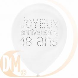 Ballon Anniversaire par 8