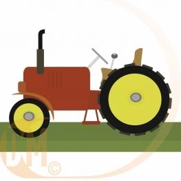 centre de table tracteur