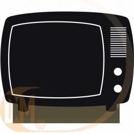 Centre de table vintage TV