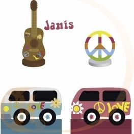 Marque place hippie seventie