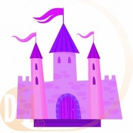 Centre de table chateau chevalier ou princesse
