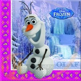Serviette anniversaire Olaf reine des neiges
