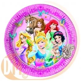 Assiette princesse et animaux