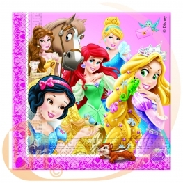 Serviette de table Princesses et Animaux
