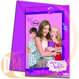 Carte invitation Violetta