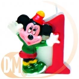 Bougie chiffre Mickey