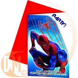 Carte invitation Spiderman