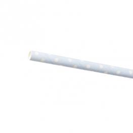 Paille Pois Blancs (x24)