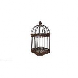 Cage métal vieillie vintage
