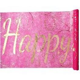 Chemin de table Happy