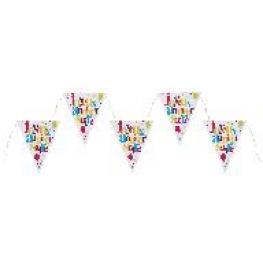 Banderole triangle Joyeux Anniversaire festif