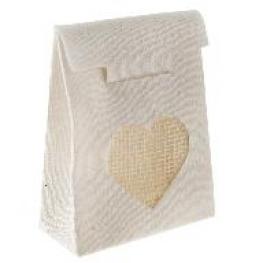 Sachet coton pour drag�es avec coeur