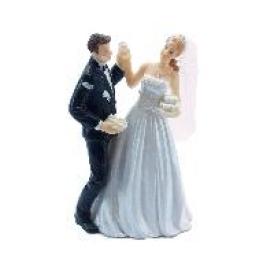 Couple de mari�s fantaisie part du gateau