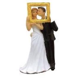 Figurine Mariage mari�s dans un cadre photo