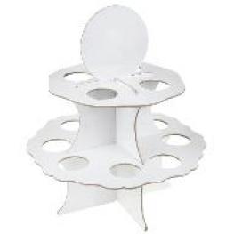 Pr�sentoir rond � boules 5 cm, blanc