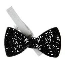 Pinces Noeud Papillon, blanc et noir par 6