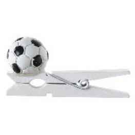 Ballon de foot sur pince x 6