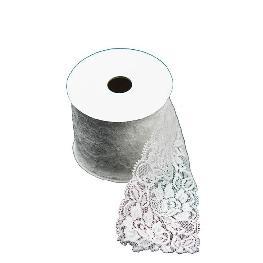 Ruban dentelle coton blanc