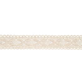 Ruban dentelle coton 2,5 cm