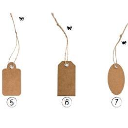 carte etiquette Déco rétro avec oeillet et lien