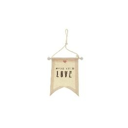 Fanion tissu � suspendre made with Love