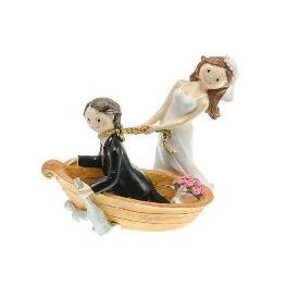 Couple de Mariés en Barque