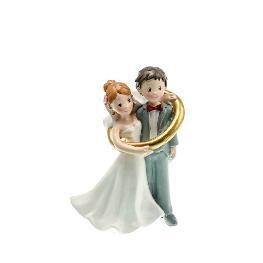 Couple de mariés dans anneau