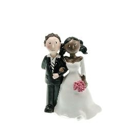 Couple de mariés mixte Black et White