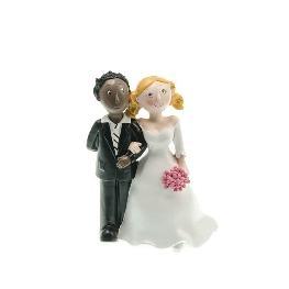 Couple de mariés mixte white et black