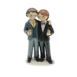 Couple de mariés gay garçons à votre santé