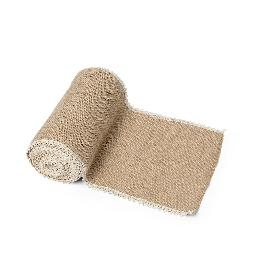 Chemin de table Jute bord� de dentelle