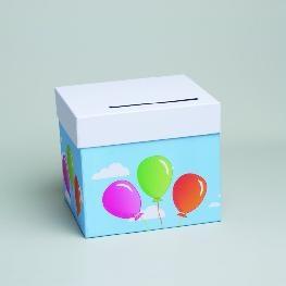 Urne ballons joyeuse anniversaire