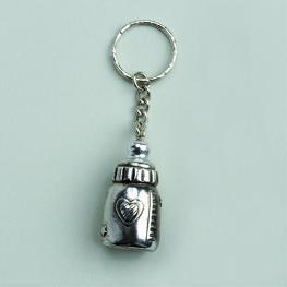 Porte clés biberon gris par 2
