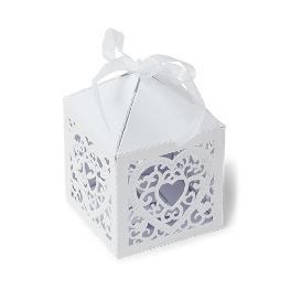 Cage a papier mariage avec coeur x 20 pièces
