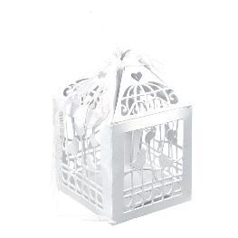 Cage a oiseau mariage en papier x 20 pièces