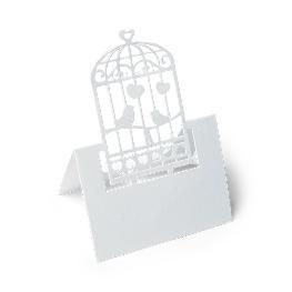 Marque place cage a oiseau Blanc x 20 pièces