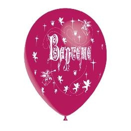 Ballon couleur impression Bapt�me 1 face x 10