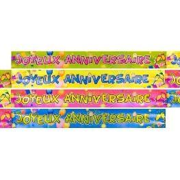 Bannière anniversaire metallisée POP