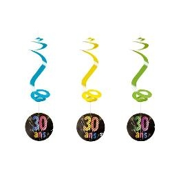 Suspension spirale anniversaire Chic