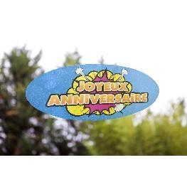 Sticker repositionnable Joyeux Anniversaire