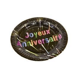 Assiette carton Joyeuse anniversaire