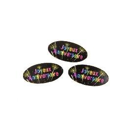 Confetti de table en papier Anniversaire chic