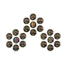 Badge métal Anniversaire Chic