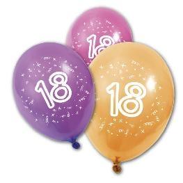 Ballon imprimé \\\' Age \\\' x 8