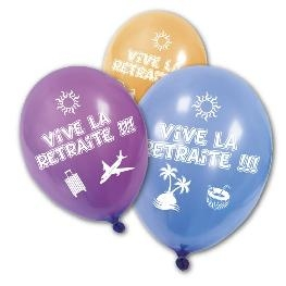 Ballon imprim� Vive la retraite