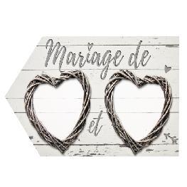 Flèche directionnelle romantique