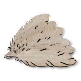 Plume en bois