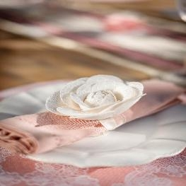 Rose sur ruban