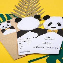 Invitations panda