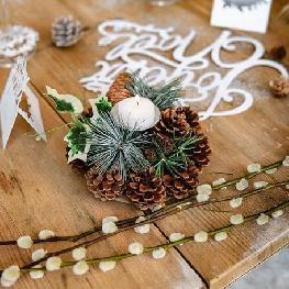 Bougeoir nature Noël